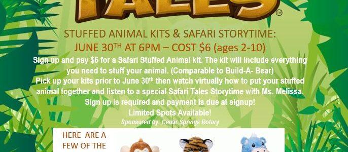 Stuffed Animal Kits & Storytime – Summer Reading Program