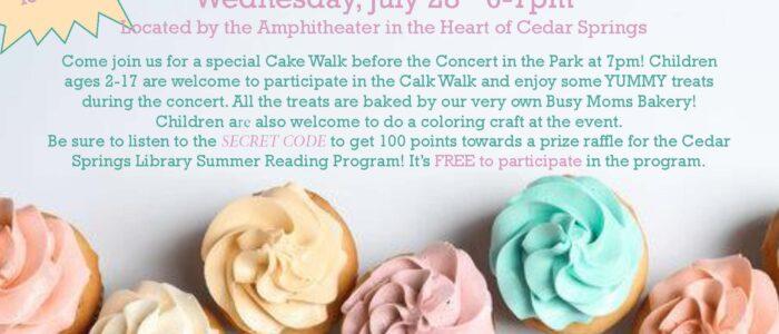 Cake Walk – Summer Reading Program