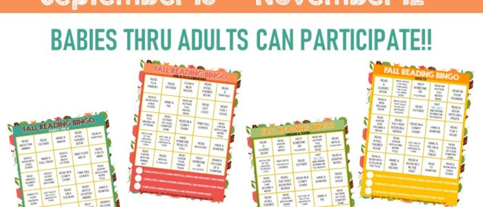 Fall Reading BINGO: Ages 1-Adult