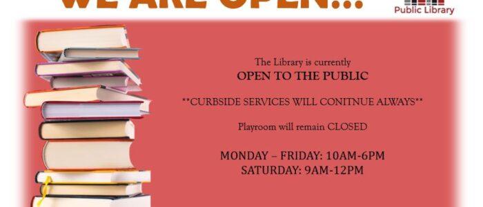 WE ARE OPEN!!!  Mon-Fri 10am-6pm, Sat 9am-12pm