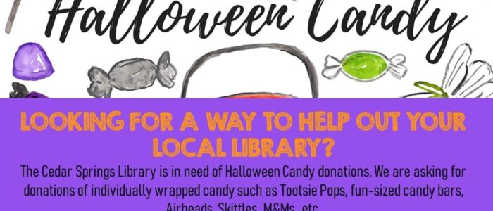 Please consider donating Halloween Candy!